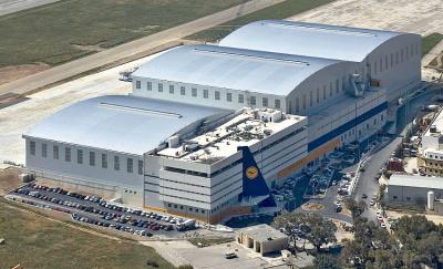 280 Metre wide Airbus MRO Hangar for Lufthansa Technik, Malta